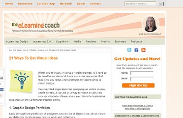 http://theelearningcoach.com/media/graphics/21-ways-to-get-visual-ideas/