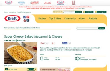 http://www.kraftrecipes.com/recipes/super-cheesy-baked-macaroni-55459.aspx