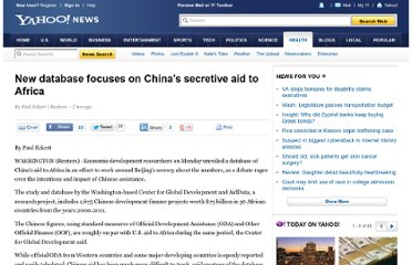 http://news.yahoo.com/database-focuses-chinas-secretive-aid-africa-012730694.html