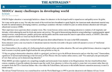 http://m.theaustralian.com.au/higher-education/moocs-many-challenges-in-developing-world/story-e6frgcjx-1226631643302