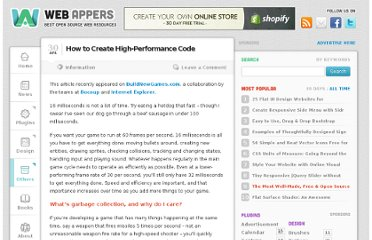 http://www.webappers.com/2013/04/30/how-to-create-high-performance-code/