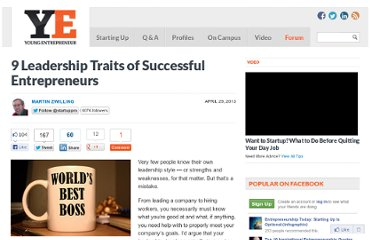 http://www.youngentrepreneur.com/startingup/business-management/9-leadership-traits-of-successful-entrepreneurs/