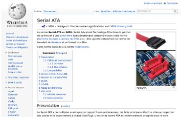 Port SATA La norme Serial ATA ou SATA (Serial Advanced Technology Attachmen
