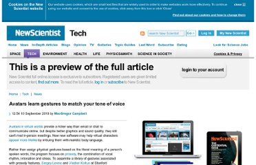 http://www.newscientist.com/article/dn19439-avatars-learn-gestures-to-match-your-tone-of-voice.html