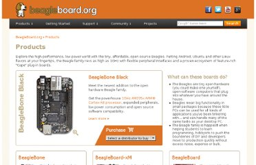 http://beagleboard.org/products