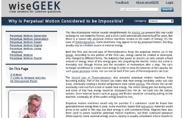http://www.wisegeek.org/why-is-perpetual-motion-considered-to-be-impossible.htm