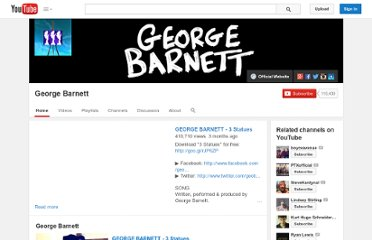 http://www.youtube.com/user/no1GeorgeBarnett