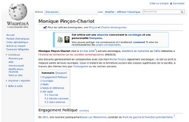 http://fr.wikipedia.org/wiki/Monique_Pin%C3%A7on-Charlot