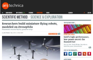 http://arstechnica.com/science/2013/05/researchers-build-miniature-flying-robots-modeled-on-drosophila/
