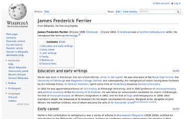 http://en.wikipedia.org/wiki/James_Frederick_Ferrier