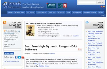 http://www.techsupportalert.com/best-free-high-dynamic-range-hdr-software.htm