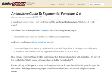 http://betterexplained.com/articles/an-intuitive-guide-to-exponential-functions-e/