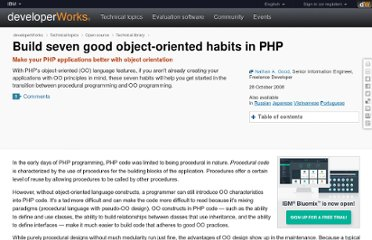 http://www.ibm.com/developerworks/opensource/library/os-php-7oohabits/index.html