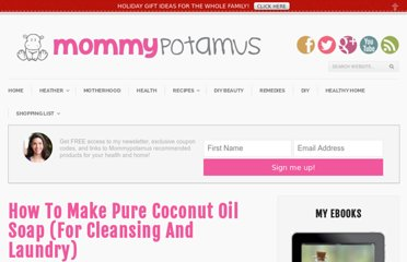 http://www.mommypotamus.com/how-to-make-pure-coconut-oil-soap-for-cleansing-and-laundry/