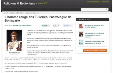 http://suite101.fr/article/lhomme-rouge-des-tuileries-lastrologue-de-bonaparte-a37088