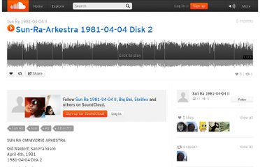 https://soundcloud.com/sun-ra-1981-04-04-ii/sets/sun-ra-arkestra-1981-04-04