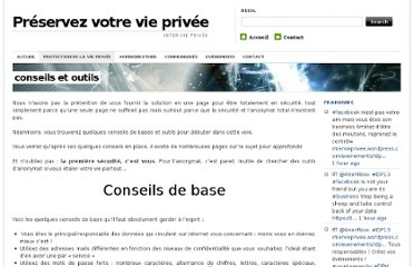 https://intervieprivee.wordpress.com/protection-de-la-vie-privee/conseils-et-outils/