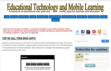 http://www.educatorstechnology.com/2013/05/top-50-all-time-ipad-apps.html