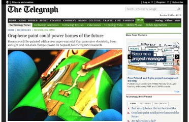 http://www.telegraph.co.uk/technology/news/10033806/Graphene-paint-could-power-homes-of-the-future.html