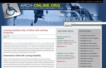 http://arch-online.org/learning-disability-help-children-with-learning-disabilities.htm