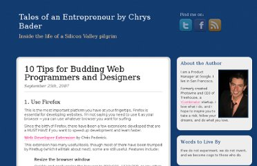 http://chrysbader.com/10-tips-for-budding-web-programmers-and-desig