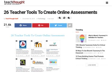 http://www.teachthought.com/technology/26-teacher-tools-to-create-online-assessments/
