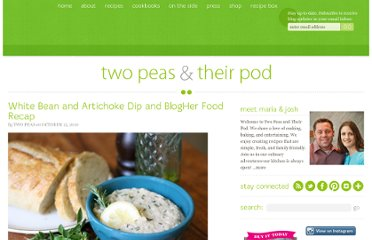 http://www.twopeasandtheirpod.com/white-bean-and-artichoke-dip-and-blogher-food-recap/