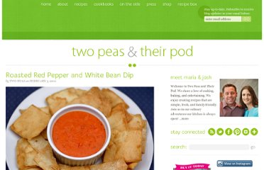 http://www.twopeasandtheirpod.com/roasted-red-pepper-and-white-bean-dip/