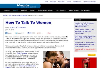 http://www.winggirlmethod.com/how-to-talk-to-women/