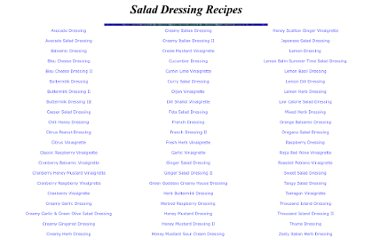 http://www.nikibone.com/recipe/salad_dressings.html