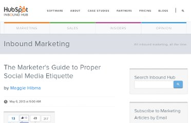http://blog.hubspot.com/marketers-guide-proper-social-media-etiquette