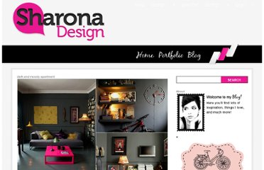 http://sharonadesign.com/dark-and-moody-apartment/