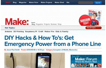http://blog.makezine.com/2013/05/06/how-to-get-emergency-power-from-a-phone-line/