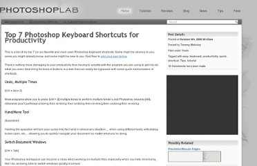 http://www.photoshoplab.com/top-7-photoshop-keyboard-shortcuts-for-productivity.html