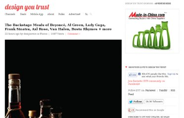http://designyoutrust.com/2013/05/the-backstage-meals-of-beyonce-al-green-lady-gaga-frank-sinatra-axl-rose-van-halen-busta-rhymes-more/