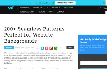 http://webdesignledger.com/freebies/200-seamless-patterns-perfect-for-website-backgrounds
