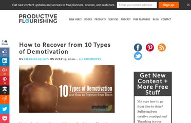 http://www.productiveflourishing.com/how-to-recover-from-10-types-of-demotivation/