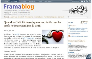 http://www.framablog.org/index.php/post/2010/09/12/cafe-pedagogique-enseignants-pirates