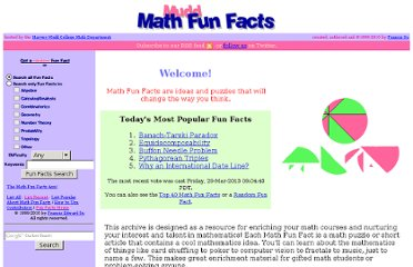 http://www.math.hmc.edu/funfacts/