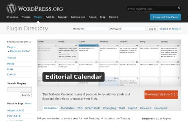 http://wordpress.org/extend/plugins/editorial-calendar/