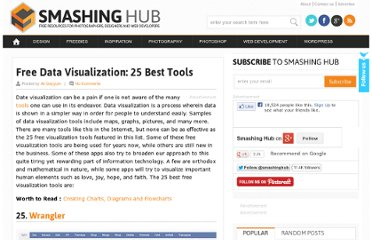 http://smashinghub.com/free-data-visualization-25-best-tools.htm