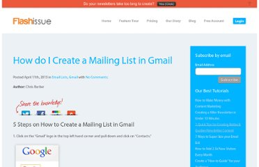 http://www.flashissue.com/blog/how-do-i-create-a-mailing-list-in-gmail/