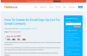 http://www.flashissue.com/blog/how-to-create-an-email-sign-up-list-for-gmail-contacts/