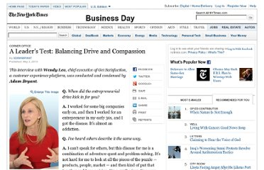 http://www.nytimes.com/2013/05/03/business/wendy-lea-of-get-satisfaction-on-balancing-drive-and-compassion.html?emc=eta1&_r=1&