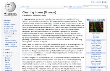 http://en.wikipedia.org/wiki/Clearing_house_(finance)