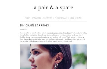 http://apairandasparediy.com/2013/05/diy-chain-earrings.html