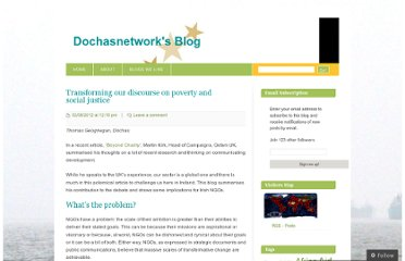 http://dochasnetwork.wordpress.com/2012/08/02/transforming-our-discourse-on-poverty-and-social-justice/