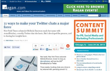 http://www.ragan.com/Main/Articles/11_ways_to_make_your_Twitter_chats_a_major_force_46674.aspx