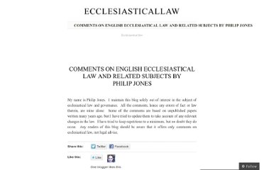 http://ecclesiasticallaw.wordpress.com/philip-jones/