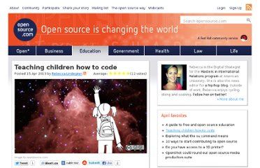 https://opensource.com/education/13/4/teaching-kids-code